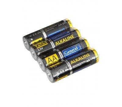 Батарейка щелочная LR06 (АА), 1,5В уп.4шт General GBAT-LR6