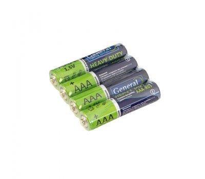 Батарейка солевая LR03 (ААА), 1,5В уп.4шт General GBAT-LR03