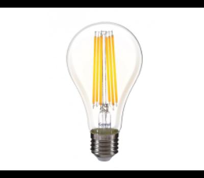 Светодиодная лампа Filament A65 20 Вт Теплый свет свет General GLDEN-A65S-20ВТ-230-E27-2700