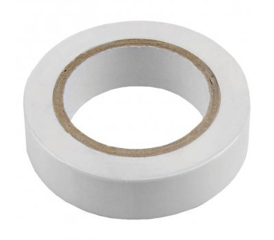 Изолента ПВХ 0.13х15мм, 20метров, белая General GIT-13-15-20-W