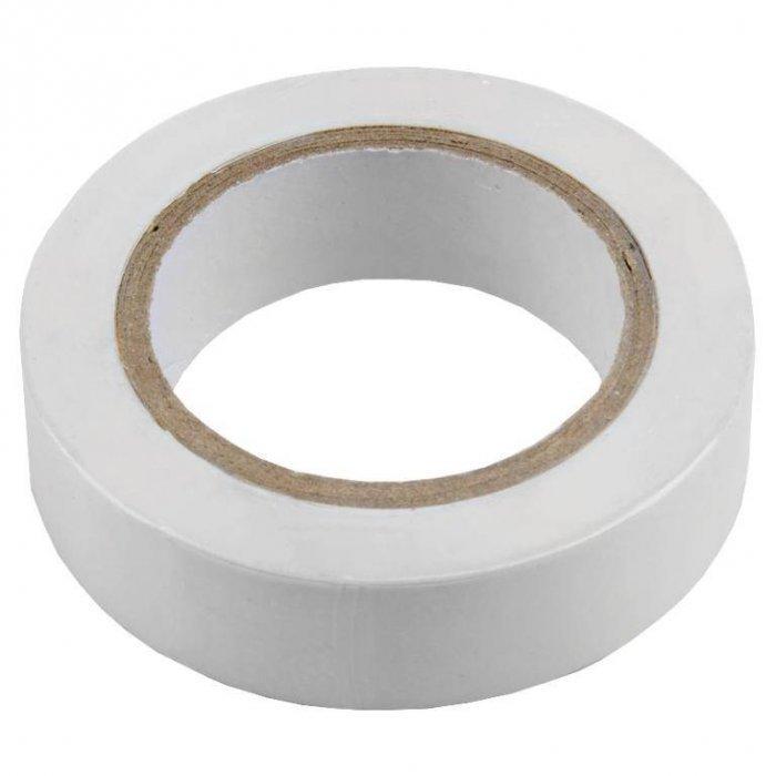Изолента ПВХ 0.13х15мм, 10метров, белая General GIT-13-15-10-W