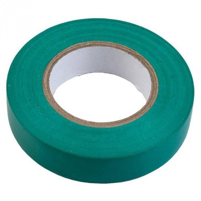 Изолента ПВХ 0.15х19мм, 20метров, зеленая General GIT-15-19-20-G