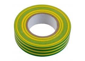 Изолента ПВХ 0.15х19мм, 20метров, желто-зеленая General GIT-15-19-20-YG