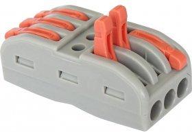 Клемма универсальная монтажная 3-проводная двусторонняя (50 шт в упак) General GTER5-03