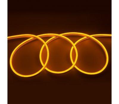 Гибкий Неон 12V 9,6 Вт/метр Оранжевый 6х12 Мм General GLS-2835-120-9.6-220-NL-IP67-O катушка 50м