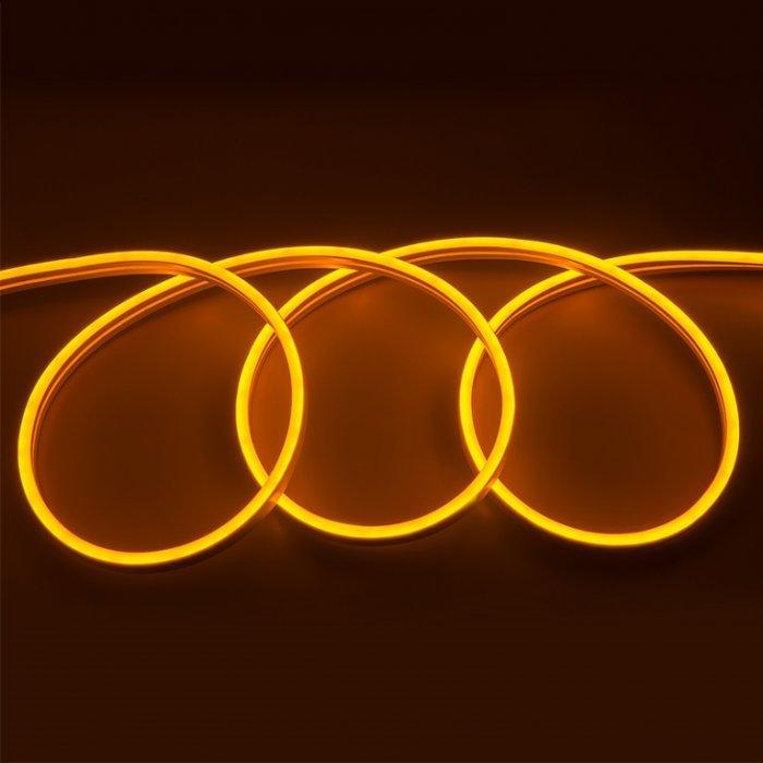 Гибкий Неон 12V 9,6 Вт/метр Оранжевый 6х12 Мм General GLS-2835-120-9.6-220-NL-IP67-O блистер 5м