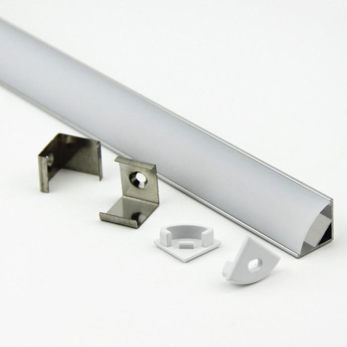 Профиль угловой для светодиодной ленты General GAL-GLS-2000-16-16 (Комплект)