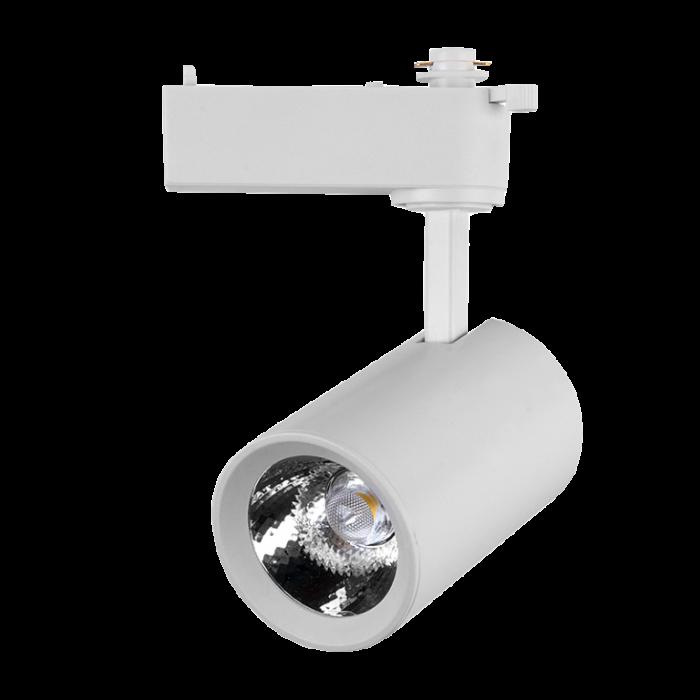 Светильник светодиодный трековый 40 Вт Нейтральный свет 1-фазный General GTR-40-1-IP20