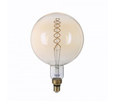 Светодиодная лампа Filament золотая Димм. G200 Винтажная 8 Вт Теплый свет General  GLDEN-G200DSS-DEM-8ВТ-230-E27-2700
