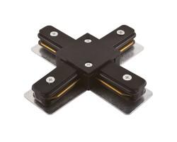 Коннектор для шинопровода Х- образный 1-фазный General G-1-TXT-IP20-B черный