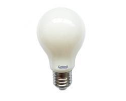 Светодиодная лампа Filament матовая А60 10 Вт Нейтральный свет General GLDEN-A60S-M-10-230-E27-4500