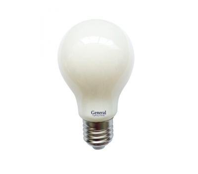 Светодиодная лампа Filament матовая А60 10 Вт Холодный свет General GLDEN-A60S-M-10-230-E27-6500