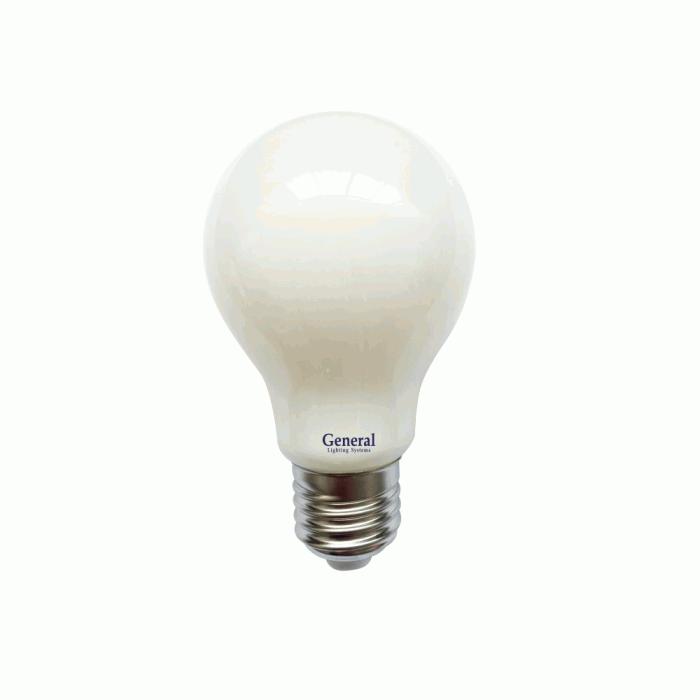 Светодиодная лампа Filament матовая А60 13 Вт Нейтральный свет General GLDEN-A60S-M-13-230-E27-4500