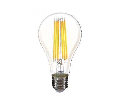 Светодиодная лампа Filament прозрачная Диммируемая A65 20 Вт Нейтральный свет General GLDEN-A65S-20ВТ-DEM-230-E27-4500