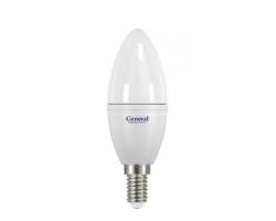 Светодиодная лампа C37 8 вт Нейтральный свет General GLDEN-CF-P-8-230-E14-4500