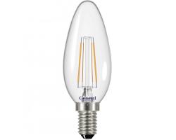 Светодиодная лампа Filament прозрачная CS 6 Вт Нейтральный свет General GLDEN-CS-6-230-E14-4500