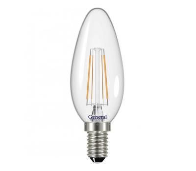 Светодиодная лампа Filament прозрачная Диммируемая CS 8 Вт Нейтральный свет General GLDEN-CS-DEM-8-230-E14-4500