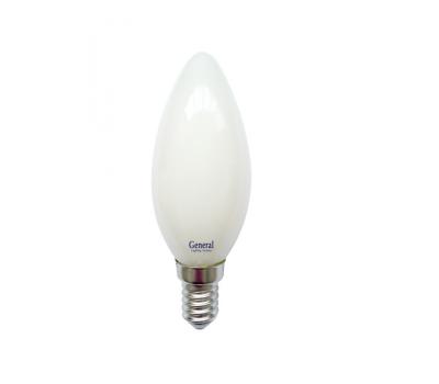 Светодиодная лампа Filament матовая CS 7 Вт Теплый свет General GLDEN-CS-M-7-230-E14-2700