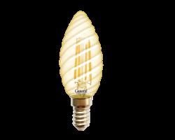 Светодиодная лампа Filament золотая CTS 7 Вт Теплый свет General GLDEN-CTS-7-230-E14-2700 Золотая