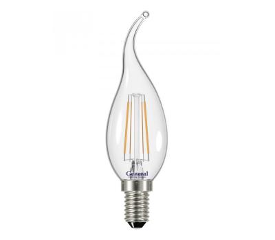 Светодиодная лампа Filament прозрачная CWS 6 Вт Нейтральный свет General GLDEN-CWS-6-230-E14-4500
