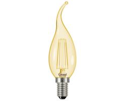 Светодиодная лампа Filament золотая CWS 7 Вт Нейтральный свет General  GLDEN-CWS-7-230-E14-4500