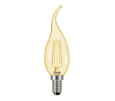 Светодиодная лампа Filament золотая CWS 7 Вт Холодный свет General GLDEN-CWS-7-230-E14-6500