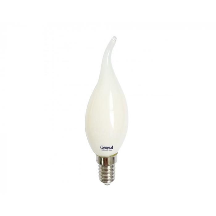 Светодиодная лампа Filament матовая CWS 7 Вт Теплый свет General GLDEN-CWS-M-7-230-E14-2700