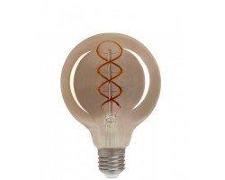 Светодиодная лампа Filament дымчато-серый G125 6 Вт Теплый свет General GLDEN-G125DSS-6-230-E27-1800