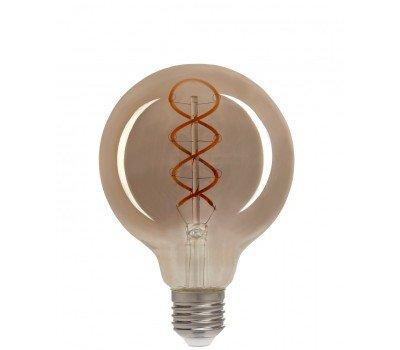 Светодиодная лампа Filament дымчато-серый G95 6 Вт Теплый свет General GLDEN-G95DSS-6-230-E27-1800