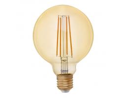 Светодиодная лампа Filament золотая G125 10 Вт Теплый свет General GLDEN-G125S-10-230-E27-2700