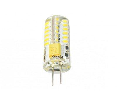 Светодиодная лампа силикон прозрачный G4 12V 3,5 Вт Нейтральный свет General GLDEN-G4-3.5-S-12-4500