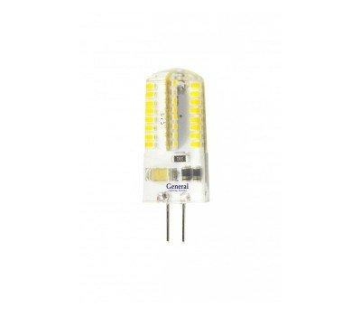 Светодиодная лампа силикон прозрачный G4 220V 4 Вт Теплый свет General GLDEN-G4-4-S-220-2700