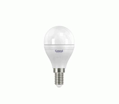 Светодиодная лампа G45 7 Вт Теплый свет General GLDEN-G45F-7-230-E14-2700