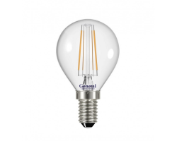 Светодиодная лампа Filament прозрачная G45 6 Вт Нейтральный свет General GLDEN-G45S-6-230-E14-4500
