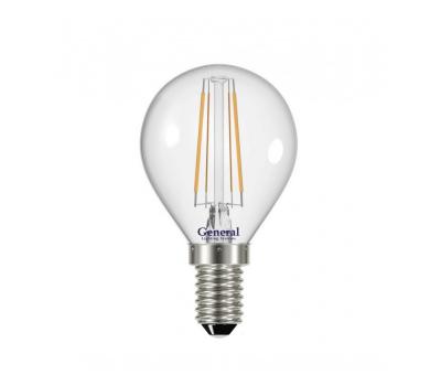 Светодиодная лампа Filament прозрачная G45 8 Вт Нейтральный свет General GLDEN-G45S-8-230-E14-4500