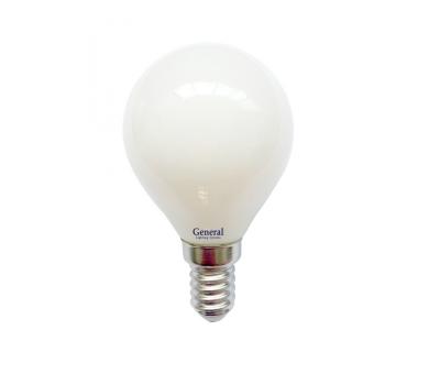 Светодиодная лампа Filament матовая G45 6 Вт Холодный свет General GLDEN-G45S-M-6-230-E14-6500