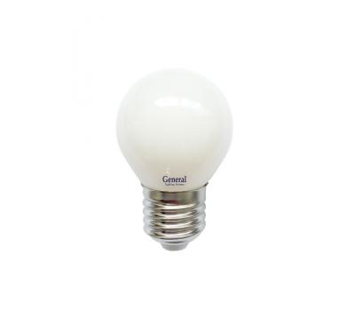 Светодиодная лампа Filament матовая G45 8 Вт Теплый свет General GLDEN-G45S-M-8-230-E27-2700