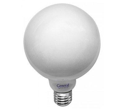 Светодиодная лампа Filament матовая G95 Нейтральный свет General GLDEN-G95S-M-8-230-E27-4500