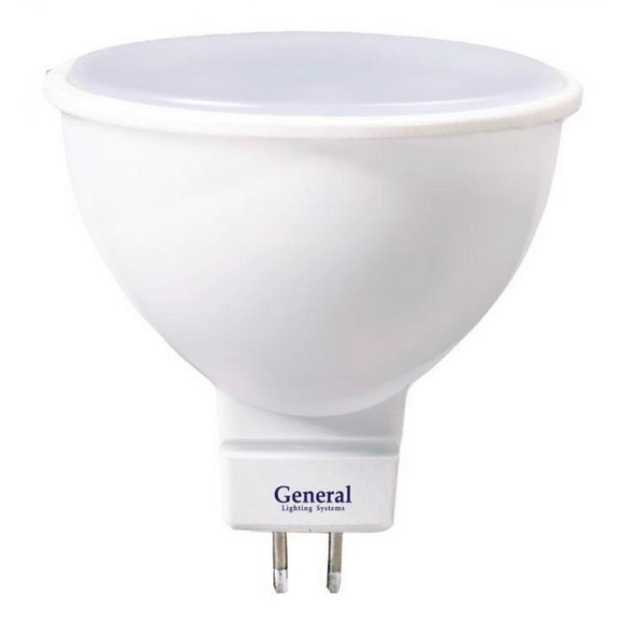 Светодиодная лампа MR16 7 Вт Нейтральный свет General GLDEN-MR16-7-230-GU5.3-4500