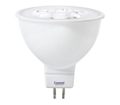 Светодиодная лампа MR16 диффузор 7 Вт Теплый свет General GLDEN-MR16-7-230-GU5.3-3000