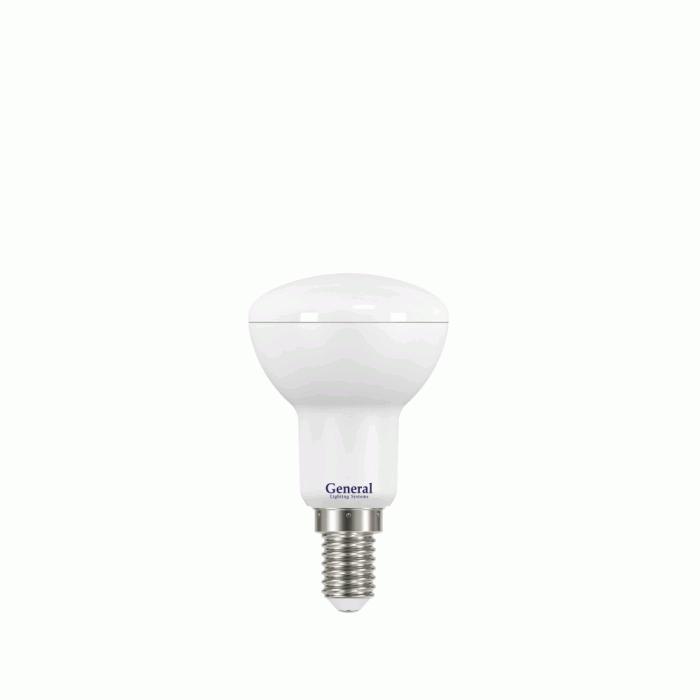 Светодиодная лампа R50 7 Вт Холодный свет General GLDEN-R50-7-230-E14-6500