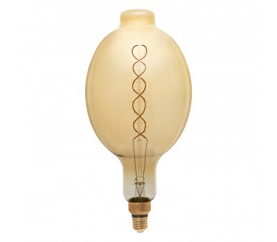 Светодиодная лампа Filament золотая Димм. BT180 Винтажная 8 Вт Теплый свет General GLDEN-BT180DSS-DEM-8ВТ-230-E27-2700