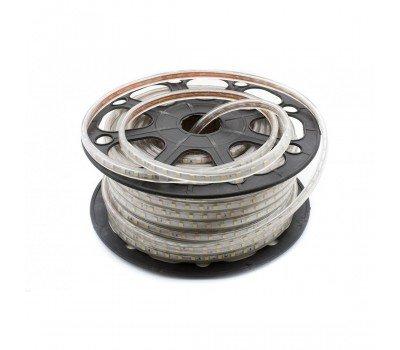 Светодиодная лента 220V 14,4 Вт Холодый белый General GLS-5050-60-14.4-220-IP67-6 катушка 50м + шнур питания