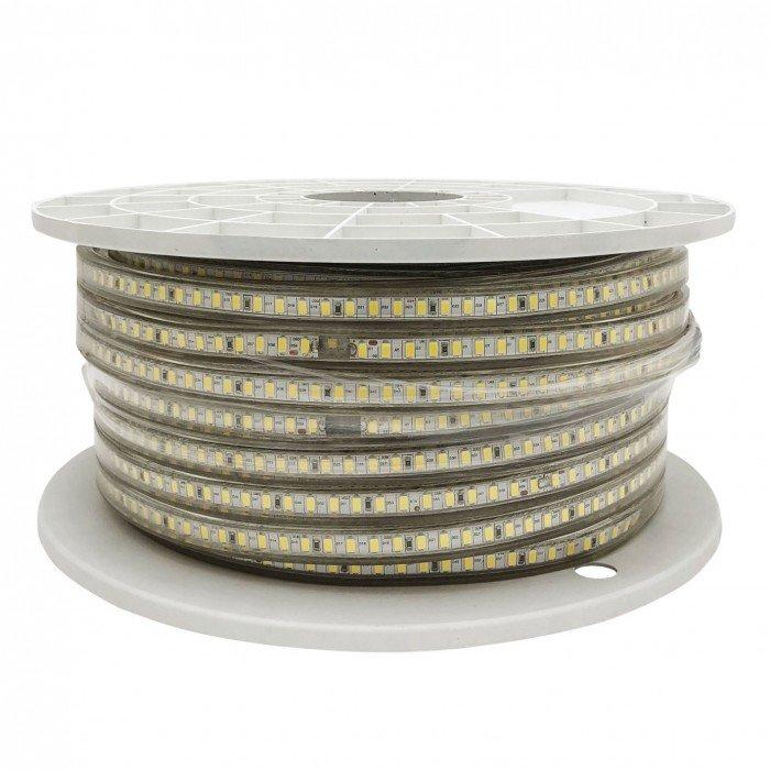 Светодиодная лента 220V 12 Вт Холодый белый General GLS-5730-60-12-220-IP67-6 катушка 50м + шнур питания