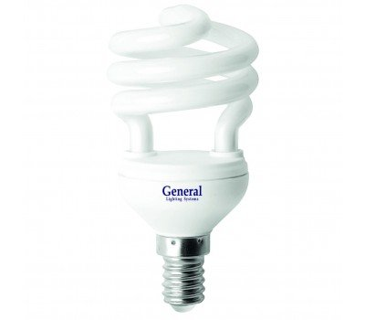Люминисцентная лампа 7 Вт Теплый свет General GR50 7 E14 2700 25/25