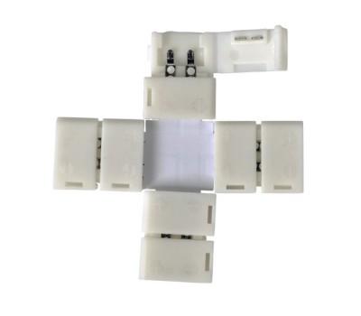 Коннектор Х-образный для светодиодной ленты 2835/3528 General GSC8-SXS-IP20   уп. по 10 шт