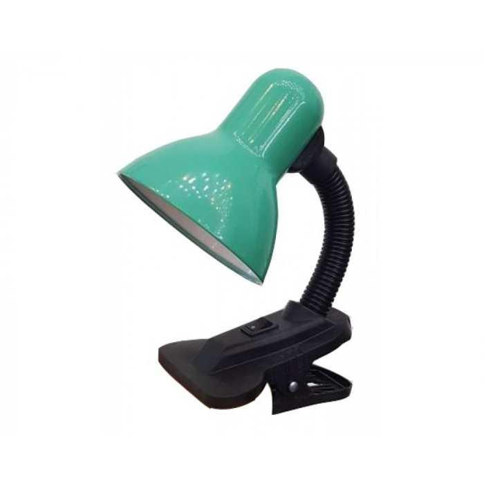 Лампа настольная на прещепке General GTL-024-60-220 зеленый