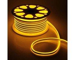 Гибкий Неон 220V 9,6 Вт/метр Желтый 8х16 Мм General GLS-2835-120-9.6-220-NL-IP67-Y катушка 50м + шнур питания