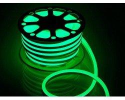 Гибкий Неон 220V 9,6 Вт/метр Зеленый 16х16 Мм General GLS-2835-120-9.6-220-BNL-IP67-G катушка 50м + шнур питания