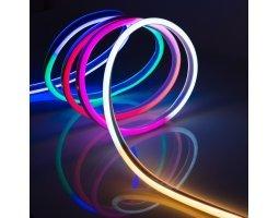 Гибкий Неон 12V 9 Вт/метр RGB разноцветный 8х18 Мм General GLS-5050-72-9-12-NL-IP67-RGB катушка 50м